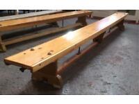 Wood gymnastic bench x2