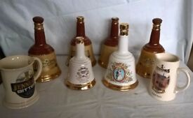 Collection of 6 wade decanters