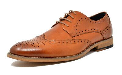 bruno marc men classic genuine leather lace