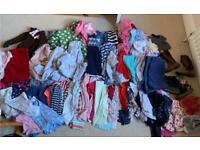 Bundle of girls clothing age 4-6, next, gap, H&m