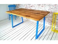 Dining Kitchen Table Metal Industrial A-Frame / Bench Sets - Any RAL Colour or Steel Finish