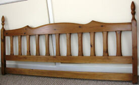 Solid wood king size headboard in good condition