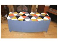 Stunning Vintage Lloyds Loom Ottoman - Free Delivery