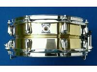 "YAMAHA 13"" X 5"" SOLID BRASS SNARE DRUM"