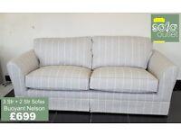 Designer Buoyant Nelson Fabric 3 + 2 seater sofas £699