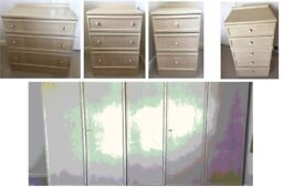 G Plan Bedroom Suite Wardrobes and Draws