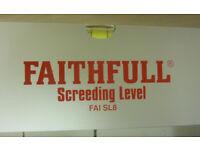 Faithful 8ft screeding level