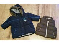Boys coat & body warmer age 3-6 months
