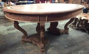 Table ronde Rallonge/panneau/extension Bois Teck / Extendable round dining Table ext. leaf Teak wood Indonesia *NEW