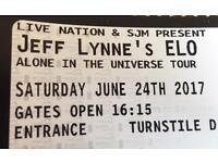 2 Tickets for Jeff Lynne's ELO in Wembley