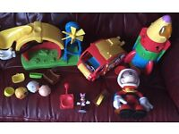 Disney Mickey Mouse clubhouse bundle camper van clubhouse slide asternaut Mickey rocket ship £25