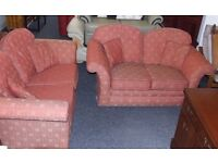 2 x two seat sofas