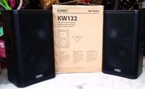 QSC KW122 powered speakers