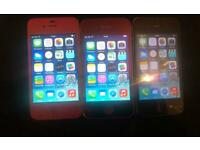 3 iPhone 4 working but faulty spares or repair