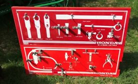 Vintage Honda 89 model car tools wall hanging - Man Cave - quirky hooks storage garage