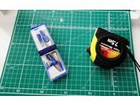 * Sale Ends on 20Sep* Drafting Compass + A4 cutting mat + 7.5m Measuring Tape [all good quality]