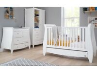 Tutti Bambini Lucas 2 Piece Room Set - Cotbed & Changing Unit