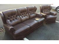 Chesterfield Style Sofa and Chair (@07752751518)