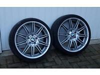 "Original BMW 19"" 4 alloys and runflats"