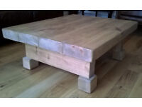 3 Inch Thick Chunky Rustic Coffee Table