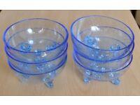 6 x Art Glass Desert Bowls