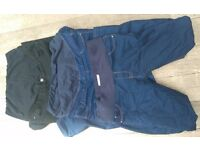 3 x maternity leggings/jeans size 12/14