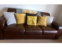 Leather 2&3 seater Sofas