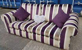 John Lewis Luxury Stripe 3 Seater Sofa