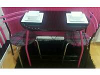 Upcycled reto table & 2 x chairs