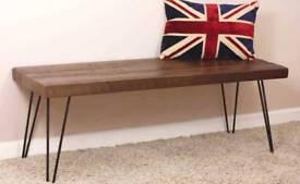 Handmade Bespoke Industrial Chic Hairpin Bench