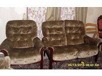 3 piece wooden sofa suit