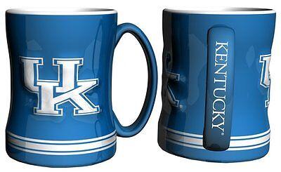Ncaa Kentucky Wildcats Mugs - NCAA Kentucky Wildcats Blue 15 oz Relief Mug
