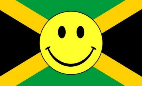 JAMAICA SMILEY FACE 5 X 3 FEET FLAG Jamaican Caribbean West Indies Kingston