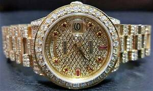 ROLEX 18ct Gold President Gents Custom Totally 'ICED' The Vines Swan Area Preview