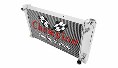 4 Row All Aluminum Performance Radiator For 1967   72 GMCChevy 8Cyl Trucks