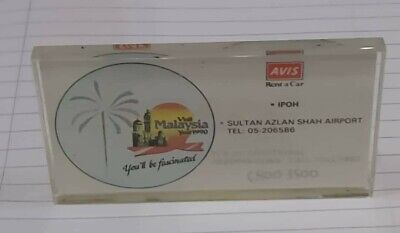 Paperweight 1990 visit malaysia year by Avis car rental from Ipoh  used