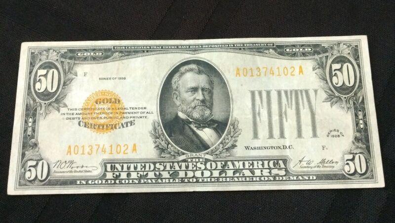 1928 50 Dollar Gold Certificate
