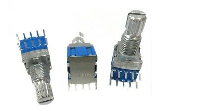 4 Pcs Silver Blue Metal Rs1010 Band Switch Rotary Switch 2 Pole 4 Position