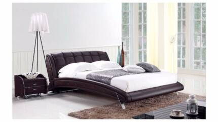 [Brand New]K6662 Real Leather bed available in Queen/King size