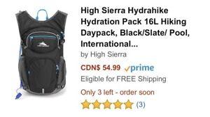 High Sierra Hydrahike Hydration Pack 16L Hiking Daypack