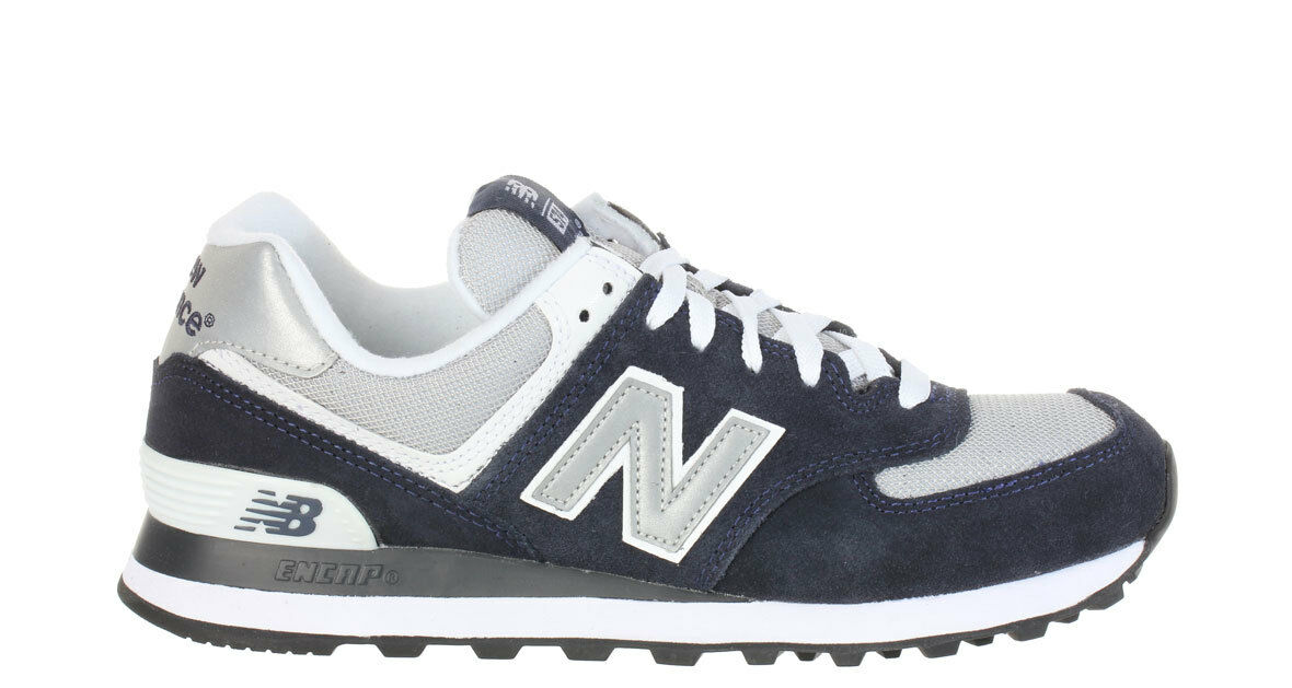new balance 574 navy and white