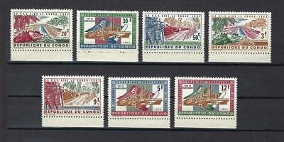 Congo 1963 Sc# 455-61 set  Kabambare Sewer Bulldozer MNH
