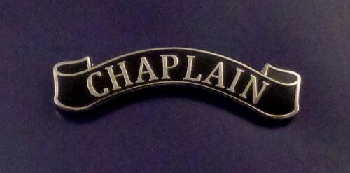 CHAPLAIN Award Bar/Uniform Pin SILVER on BLACK police/sheriff/fire dept