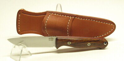 Bark River Knives Gunny, S45VN, Rampless, Desert Ironwood,Red Liners&Mosaic Pins