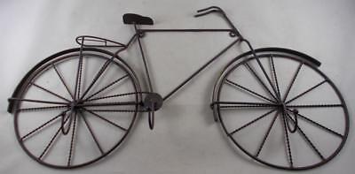 21 Iron Wall Hanging Bicycle with 3 Hooks - Bike Coat Rack Wall Decor