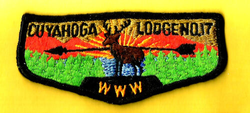 OA Lodge CUYAHOGA 17-S2a, Greater Cleveland Council Boy Scout flap OH, used