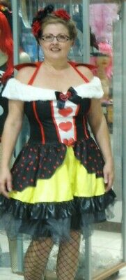 Adult Sexy Queen of Hearts Costume - Alice in Wonderland Leg Ave Plus Size 1X/2X