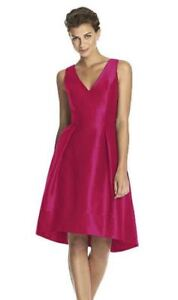 Alfred Sung Dress in Sangria (Size 4 - Style D586)