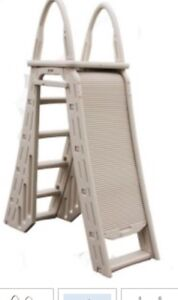 Above ground pool roll guard safety ladder