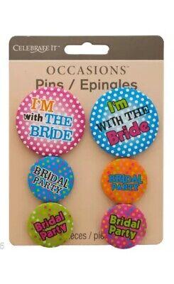 Bachelorette Party Buttons (Bride Buttons, Bachelorette Party, Bridal Party Buttons, 6pc Novelty Pins -)